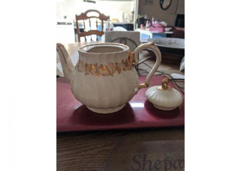 Vintage James Saddler porcelain teapot . England 1950's